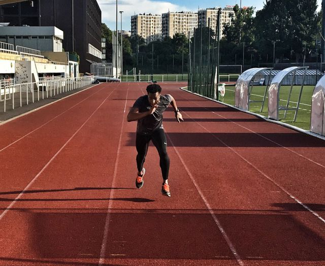 Track practice for Kevin Mwachiro (Photo courtesy of Instagram)